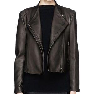 Theory Phelan black leather jacket